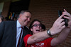 Anthony Albanese MP with a member of the Young Labor