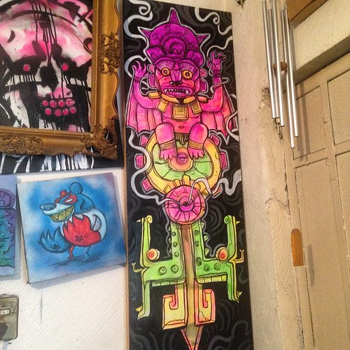 #mayas #aztecas #prehispánica #pintura #paint #frankmysterio  #handpaint  #chabola #comingsoon #tzinacalli