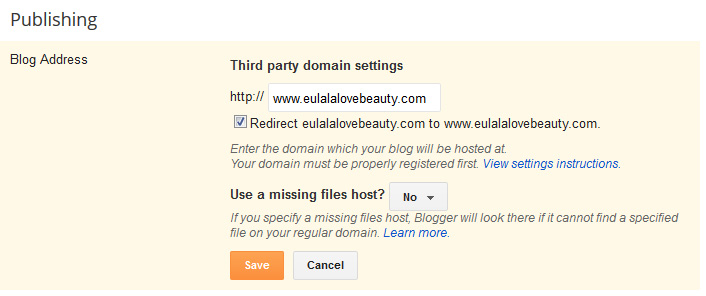 How to Setup Custom Domain on Blogger - redirect to www