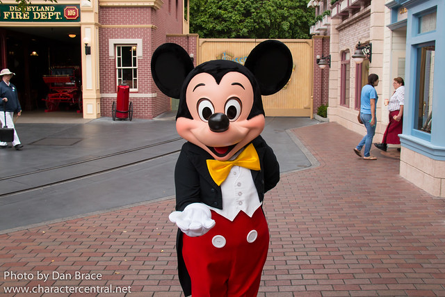 Character fun on Main Street USA