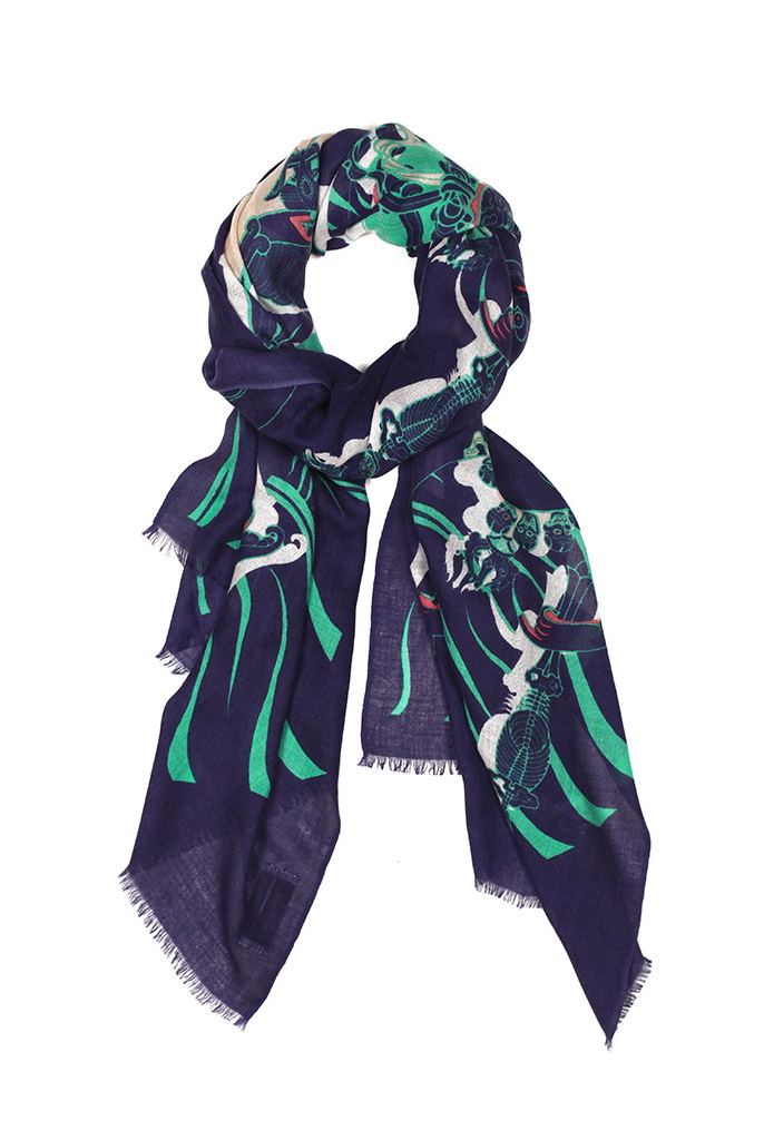 Dancing Skeletons Cashmere/Silk Scarf