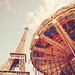Paris - Eiffel Tower and Carousel - Springtime by Vivienne Gucwa