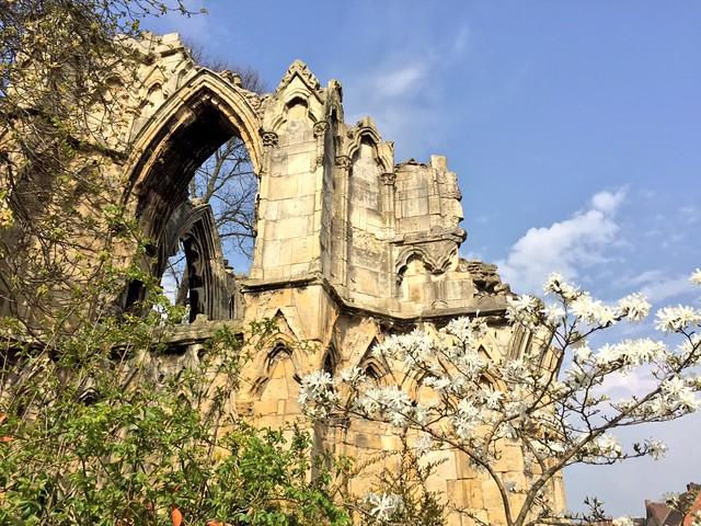 Abadía abandonada en York (Inglaterra)