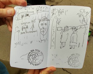Presentation of Vake Park Movement sketched by Lasha Beriaia.