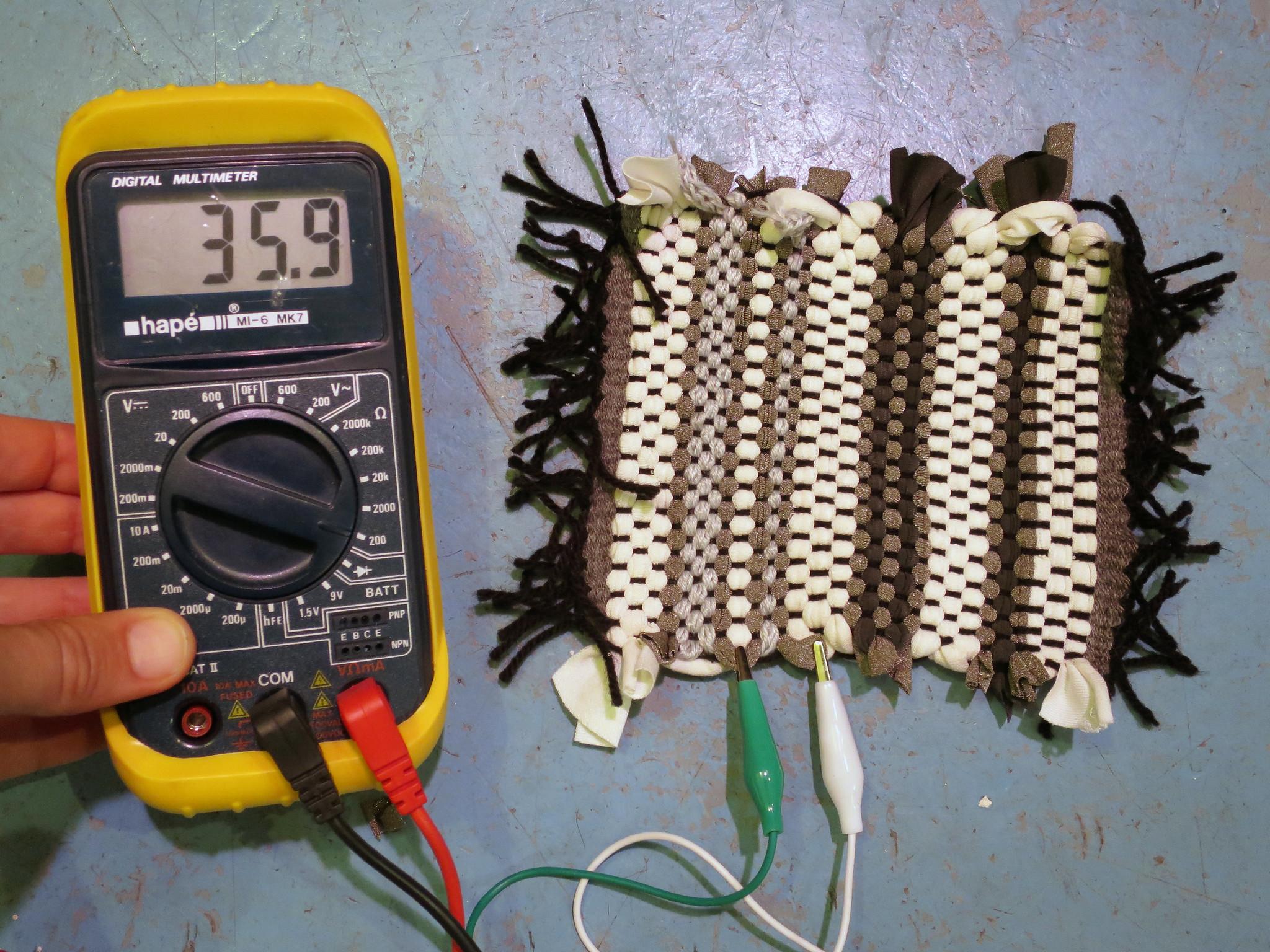 Fleckerlteppich pressure sensor