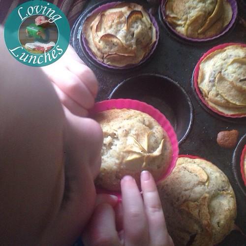Loving a little 'help' from Honey in the kitchen today… ABC muffins- yum! #kidsinthekitchen #52NewFoods #foodrevolution