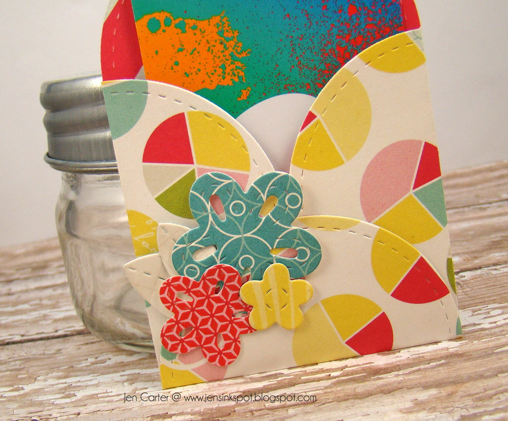 Jen Carter Petal Card Die Envelope Closeup