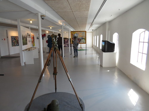 Exhibition view (with theodolite)