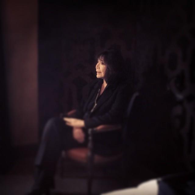 Emouvante séance photo avec Juliette Greco...