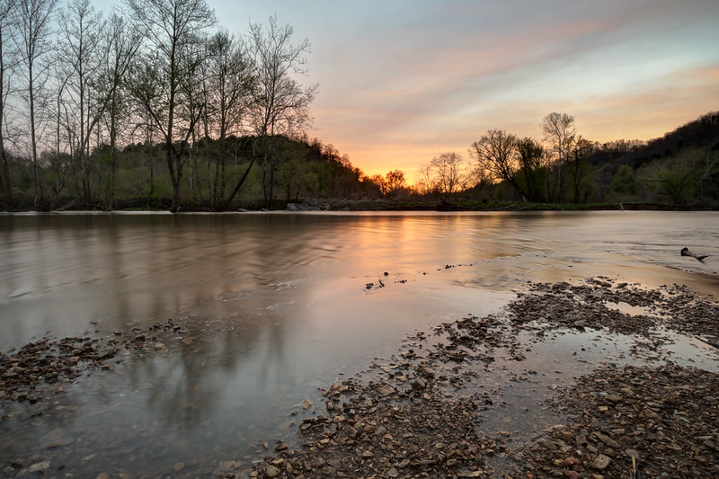 Sunset, Roaring River, The Boils WMA, Jackson County, Tennessee 3