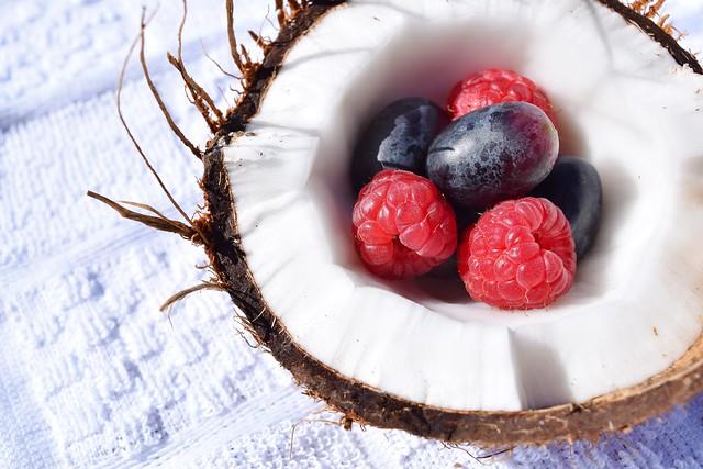 coconut and berries breakfast