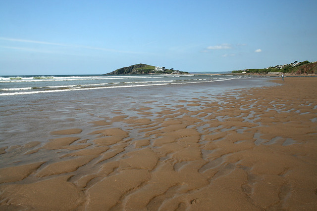 The beach at Bantham