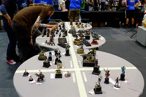 Painting Competition Judging at Salute 2015