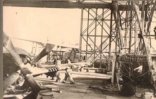 Air Technical Intelligence Unit with a seaplane Augusta 1940's