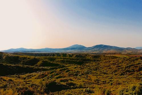 sky mountain mountains nature skyline landscape earth horizon dry greece deserted