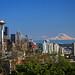 Seattle Skyline & Mt. Rainier  (explored) by louelke - GONE FOR A FEW WEEKS