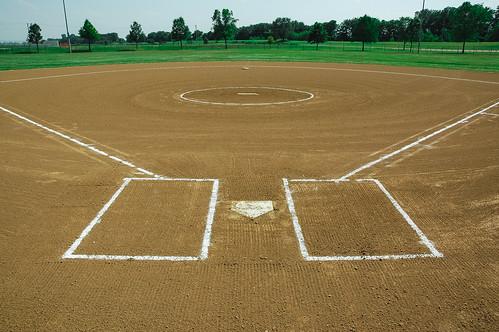 grass kids children baseball box dirt softball raked bases littleleague outfield homeplate pitchersmound striping batters