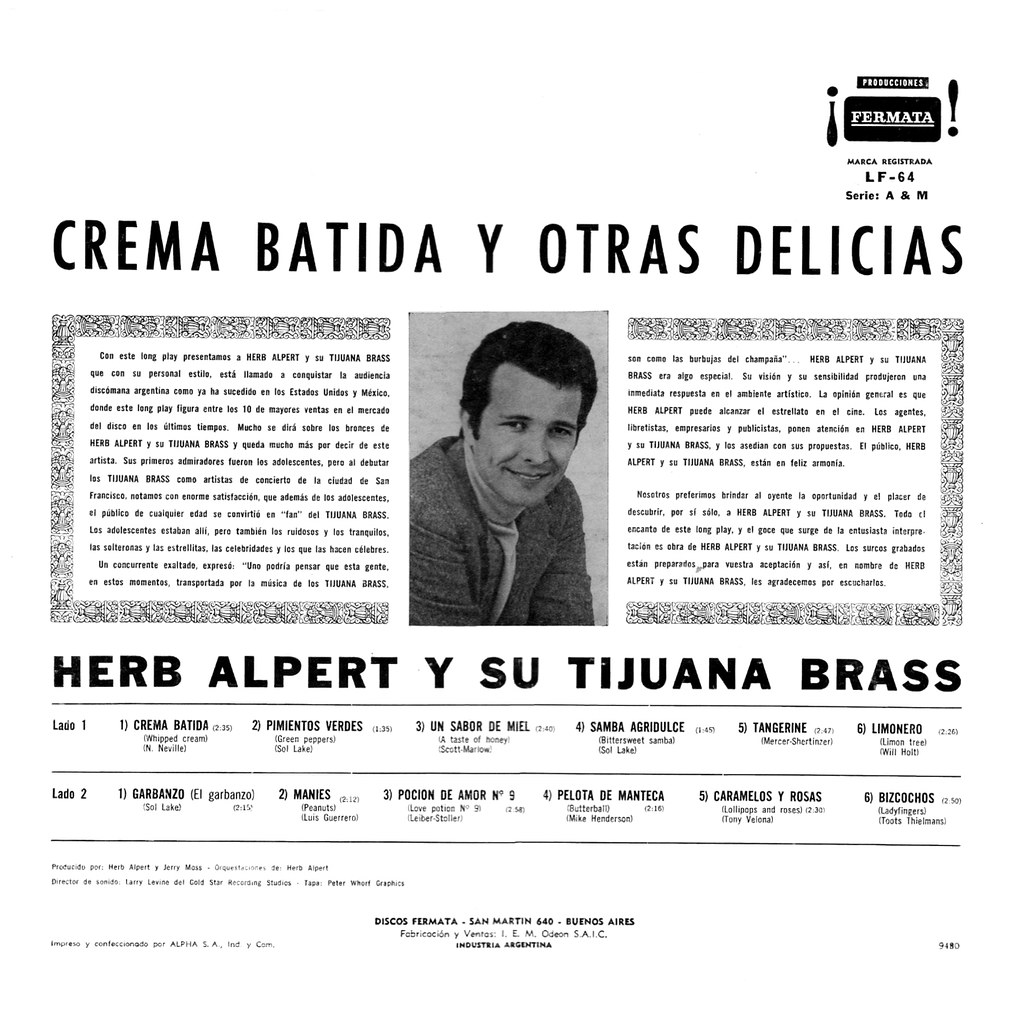 Herb Alpert - Whipped Cream & Other Delights b