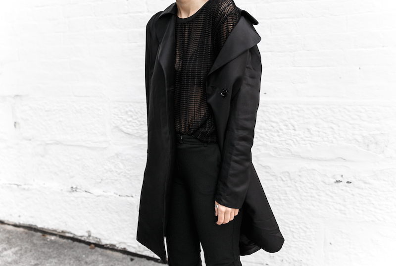 all black reiss modern legacy fashion blogger Gucci Princetown fur loafers Proenza Schouler PS11 mini outfit workwear 90s  (8 of 9)