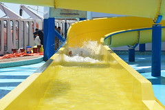 Michael on the Water Slide
