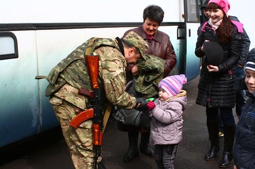 Зведений загін міліціонерів повернувся додому з АТО