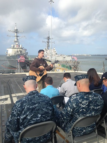 USS Mobile Bay Sailors Celebrate Easter