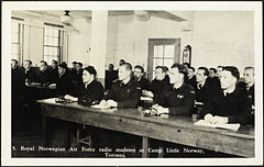 5. Royal Norwegian Air Force radio students at Camp Little Norway, Toronto