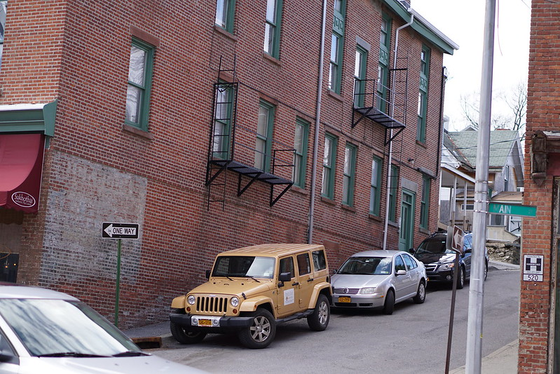 Cool Yellow Jeep on Hill in Beacon NY