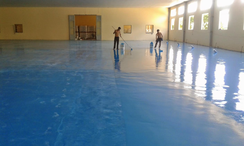 Công ty Phong phú chuyên thi công sơn sàn, nền nhà xưởng cao cấp tại hcm