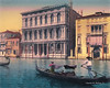 Digital Pastel Drawing of the Ca' Rezzonico Palazzo in Venice by Charles W. Bailey, Jr.