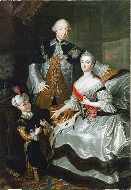 Peter III and Catherine II by Anna Rosina de Gasc