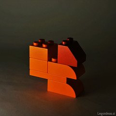 Simple lego duplo squirrel, 6 bricks.