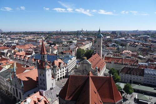 Monachium widziane z góry z innej perspektywy.