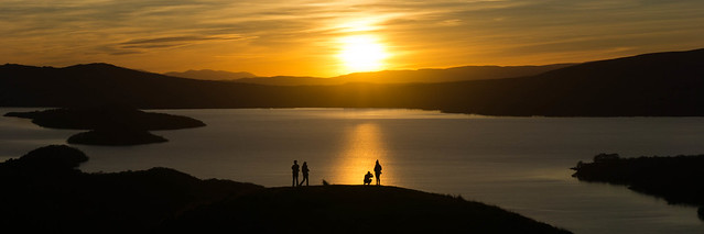 Sunset from Conic Hill