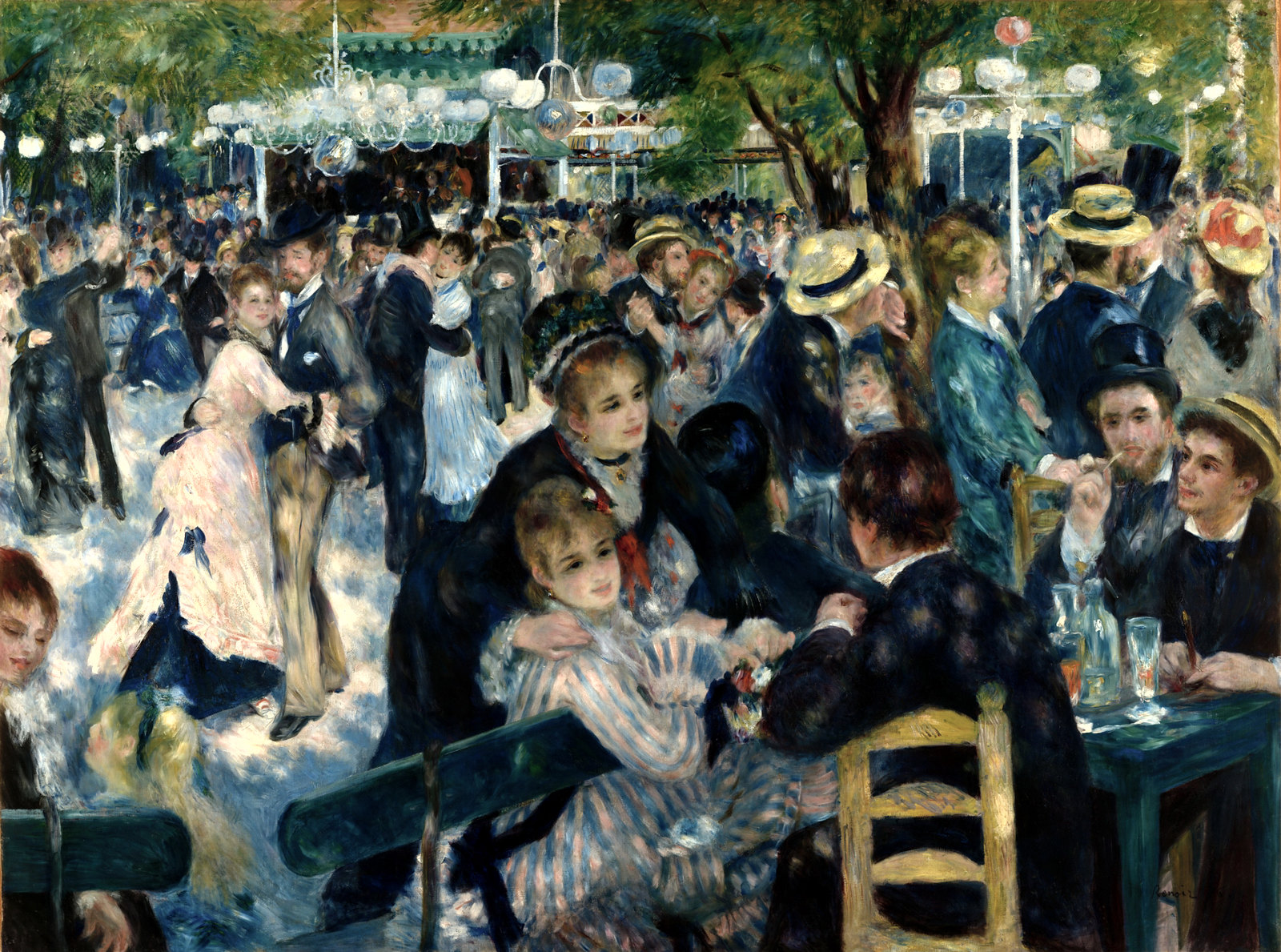 Dance at Le Moulin de la Galette by Pierre-Auguste Renoir, 1876