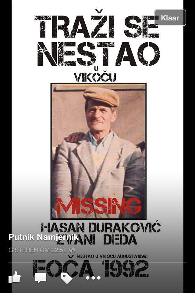 Hasan Duraković  - žrtva genocida u Foči 1992.