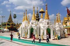 Shwedagon Paya, the eleven shrine cluster