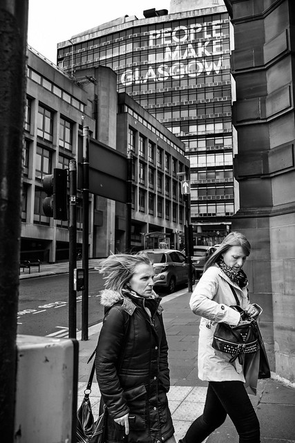 People make Glasgow - Black and white street photography