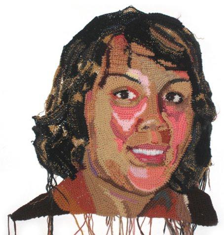 Chevonne Ball, crochet portrait by Jo Hamilton | Emma Lamb