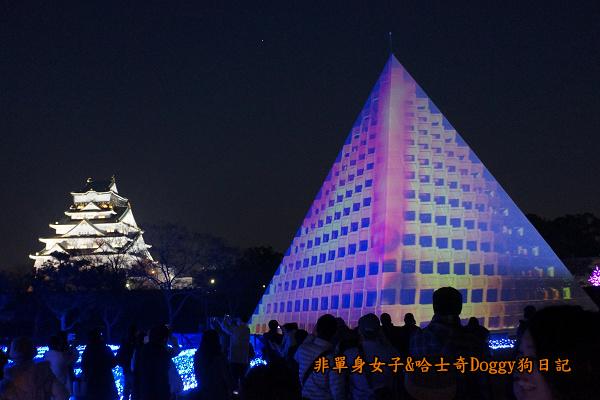 日本大阪城公園梅林城天守閣3D光之陣18