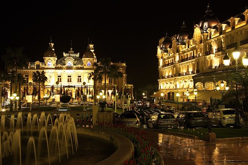 Gorgeous Casino de Monte Carlo and Hotel de Paris at night