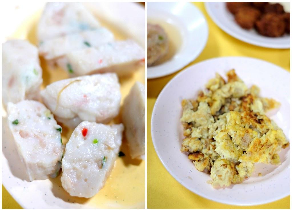 Ann Hoo Teochew Porridge: homemade fish cake & Chye Poh Omelette