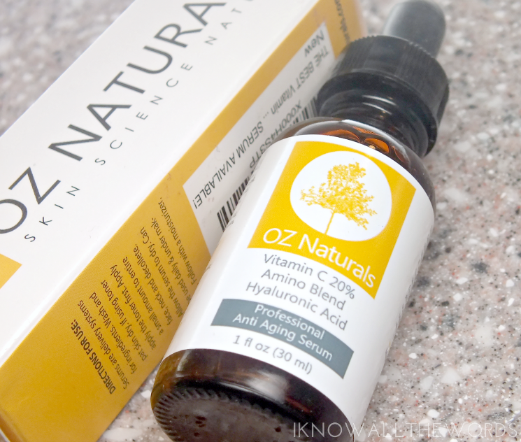 oz naturals 20% VITAMIN C + AMINO + HYALURONIC ACID SERUM (4)