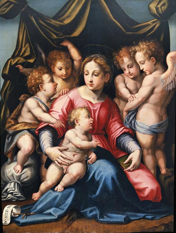 Michele di Ridolfo del Ghirlandaio - Madonna con Bambino, San Giovannino e Angeli