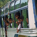 A happy  school bus in Nepal by maios