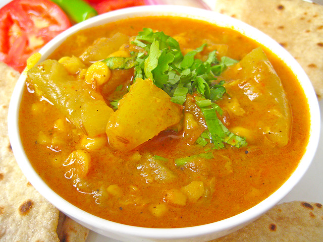 Lauki Chana Dal Recipe From North Indian Cuisine By Sonia Goyal