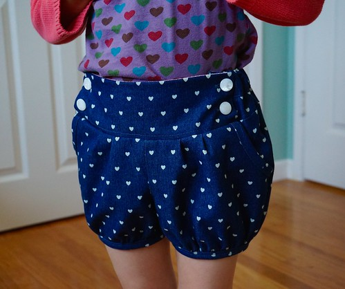 Heart Berry Bubble Shorts