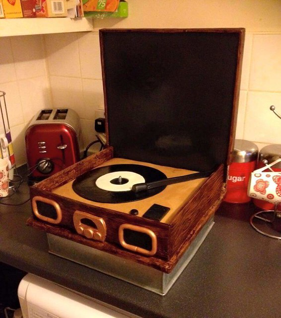 Record Player Cake by Claire Allen