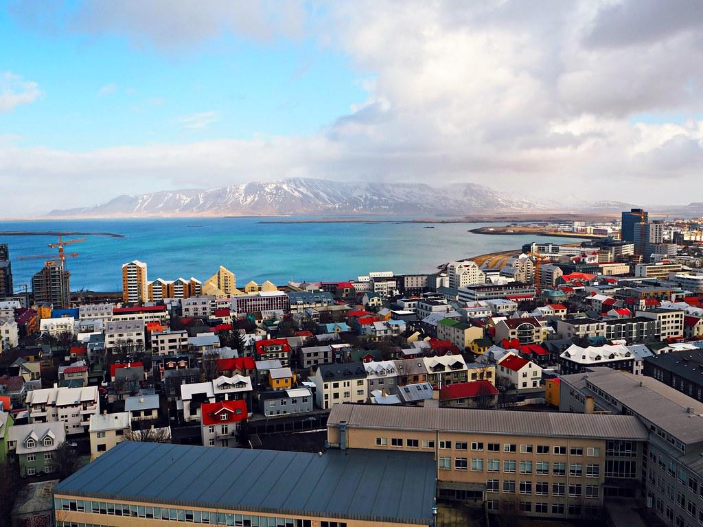 Hallgrímskirkja Reykjavik view from top