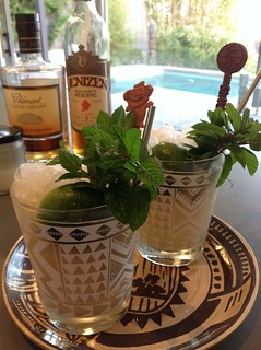 Mai Tai with Denizen Merchant's Reserve 8-year rum, lime juice, homemade orgeat, Clement creole shrubb #cocktail #cocktails #craftcocktails #tiki #maitai #rum